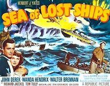 16mm action-adv. SEA OF LOST SHIPS - John Derek, Walter Brennen, Richard Jaeckel