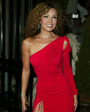 THALIA SEXY IN RED DRESS COLOR 11X14 PHOTO
