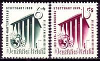 THIRD REICH 1939 mint MNH National Garden Exhibition stamp set! CV $24.00
