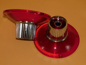 NOS 1964 FORD GALAXIE OR CUSTOM 300 500 REAR TAILLIGHT PAIR,LENS With Blue Dots.