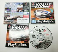 V-Rally 2 Sony Playstation 1 (PS1) Game PAL Complete With Manual Tested