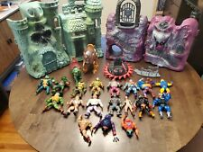 Masters Of The Universe Vintage He Man Figures Lot Greyskull Snake Mountain MOTU