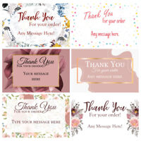 1000 Personalised Thank You for your order business cards Floral Single Sided