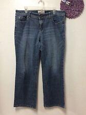 Ladies jeans MAURICES Lotus Straight size 18 regular blue denim 120