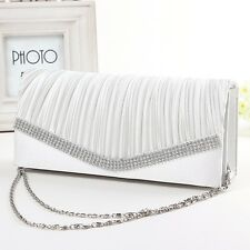 Women Envelope Clutch Bags Ladies Wedding Evening Handbag Party Ball Chain Purse