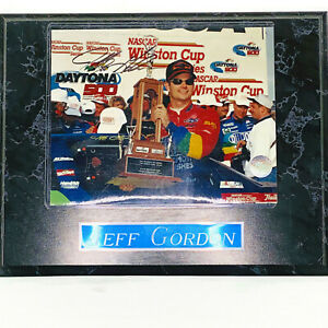 Jeff Gordon Signed Wall Plaque 1997 Daytona 500 Winston Cup Race With COA