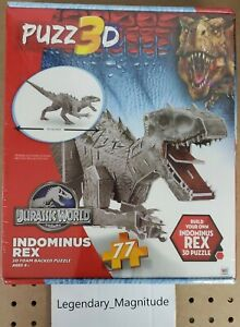 JURASSIC WORLD INDOMINUS REX PUZZ 3D PUZZLE NIB 77pc