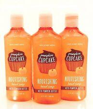 5 BATH & BODY WORKS PUMPKIN CUPCAKE NOURISHING HAND SOAP WITH PUMPKIN BUTTER NEW