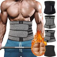 Men Sweat Waist Trainer Sauna Belt Fat Burner Weight Loss Body Shaper Shapewear
