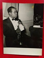 Louis Armstrong vintage photo by Jacques Boutinot, Nice