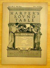 Maxfield Parrish Cover Complete HARPER'S ROUND TABLE March 1898 Vol.1 No.5.