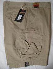 CARGO Mens Washed Utility Cargo Shorts NWT 40 Khaki 100% Cotton