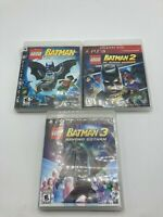 Sony PlayStation 3 PS3 Tested LEGO Batman 1 2 3 Trilogy LOT Bundle Ships Fast