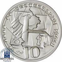Victor Huster Silber-Probe Bundesverfassungsgericht BVG BRD 10 DM Münze 2001