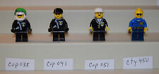 Lego Minifigure Cops Police cop038 cop041 cop051 cty450 LOT of 4    #LX753