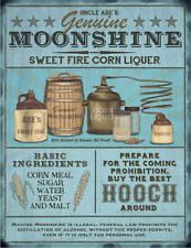 Moonshine liqueur Brewing pub bar homme Cave Hangar Publicité large métal /