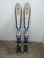 Pair of Rossignol Little Kids Youth Downhill Jr Skis w/ Bindings 90 cm Boys Girl