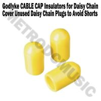 Godlyke Power-All CABLE CAP Insulators Bag of 3 Cover Unused Daisy Chain Plugs