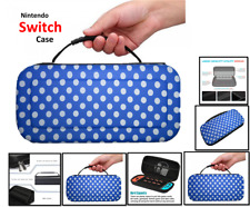 BLUE (P.DOT) -Hard Protective HANDLE Carry Case For Nintendo SWITCH Console Game