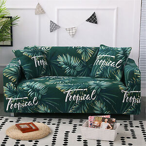 Striped Plaid Slipcover Protector Chair Couch Sofa Cover Pillow Case 3Pcs/Set