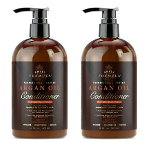 2 X Moroccan Argan Oil Hair CONDITIONER Infused with Keratin & Hydrolyzed Silk