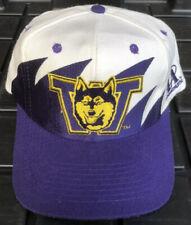 Vintage 90s Washington Huskies Logo Athletic  Sharktooth SnapBack Hat Cap