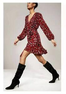 New Stuart Weitzman Lafayette Black Suede Knee High Slouch Boot Women 6.5 $775