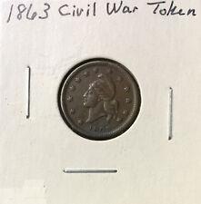 1863 Civil War Token ~ *Army & Navy* ~ Strong Original Details