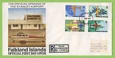 Aviation First Day Cover Falkland Island Stamps