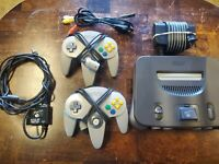 Nintendo 64 N64 System Console w/2 OEM Controllers RF Switch (Tested & Working)
