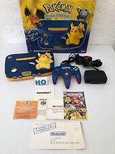 Console - Nintendo 64 - Pokémon - Pikachu - Edition limitée - En boîte - TTBE
