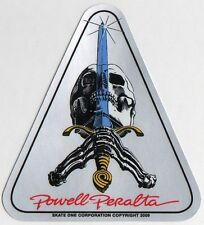 Powell Peralta Skateboard Sticker Skull & Sword Reissue bones brigade old school