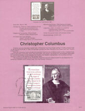 #9212-9217 Columbus 6 SS #2624-2629 USPS Souvenir Page