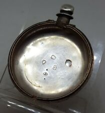 Antique solid silver pair cased inner London pocket watch case 1873