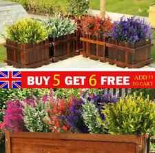 Artificial Flowers Plastic Fake Plants UV Resistant Home In/Outdoor Garden Decor
