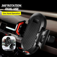 360° Rotating in Car Mobile Phone Holder Air Vent Mount Dual-Use Cradle for GPS