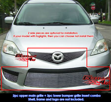 Fits Mazda 5 Mazda5 Billet Grille Grill Combo Insert 2008-2010