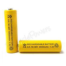 1 x pile aa 3000mah ni-mh batterie rechargeable jaune pour lecteur CD flash appareil photo