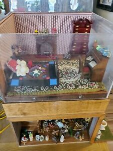 Vintage wood dollhouse furniture lot.SOME ARTISAN PIECES