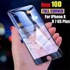 Fit iPhone 11 Pro Max X XS Max XR 6 7 8 10D Tempered Glass Full Screen Protector