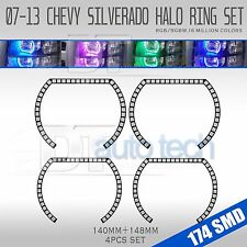 07-13 Silverado Bluetooth Multi-Color Angel Eyes LED RGB Headlight Halo Ring Set