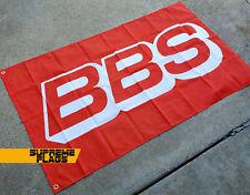 BBS Flag 3x5 ft Banner Wheels Rims Red