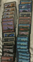 MTG - HOMELANDS 56 CARD LOT With Commons Uncommons & Rares Magic The Gathering