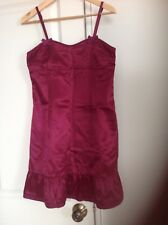 marc by marc jacobs dress size 4 burgundy