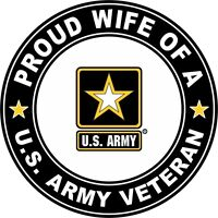 "Proud Wife of a US Army Veteran 3.8"" Sticker / Decal 'Officially Licensed'"