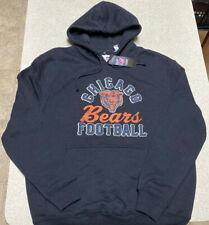 Majestic Chicago Bears Black Big Logo Pullover Hoodie Jacket Men's Size XL