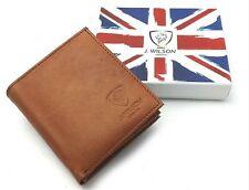 Designer RFID BLOCKING Real Genuine Mens High Quality Leather Wallet Gift Box