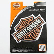 Harley Davidson B&S HD Logo Bike Tank Chrom Emblem Aluminium Alu Aufkleber Decal