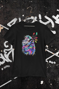 Colour Lion T-Shirt Birthday Woman Mom Girls Party Personalised Unisex Customise
