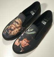 Sperry Mens Size 10 Top Sider Star Wars Han Solo & Chewbacca slip-on shoes